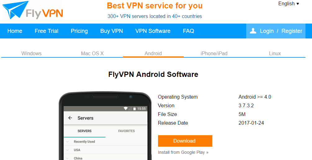 China vpn server android