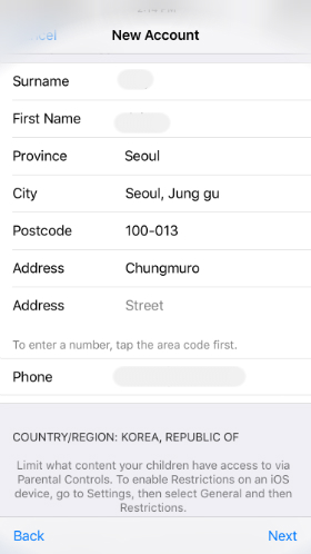 enter billing address it mus be south korea address refer to the picture or type the info as below