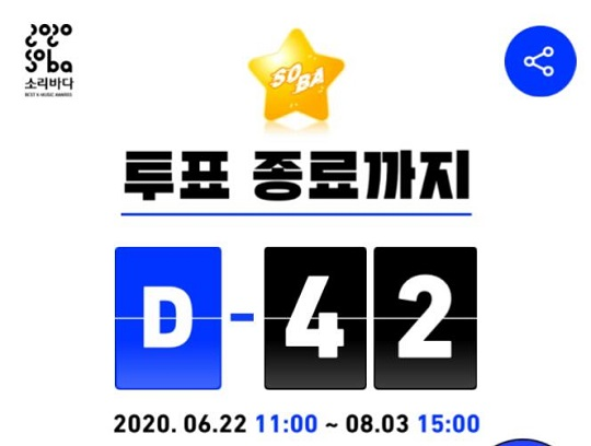2020 Soribada music awards voting